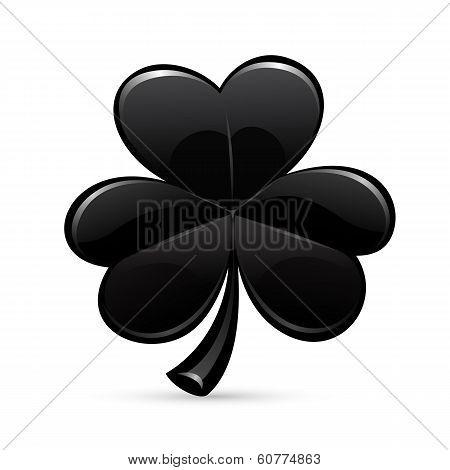 St.patrick's Day's Black Trefoil