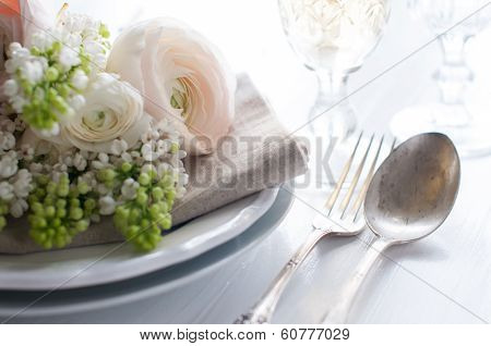Wedding Elegant Dining Table Setting