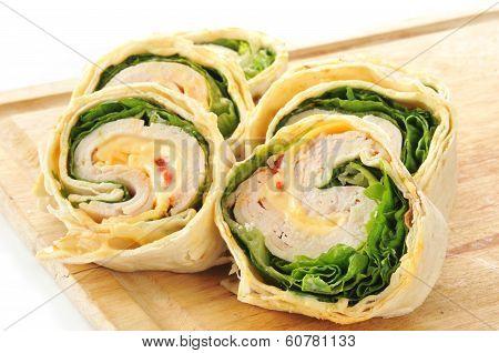 Sliced Turkey Wrap Sandwishce