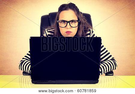 Suspicious Businesswoman