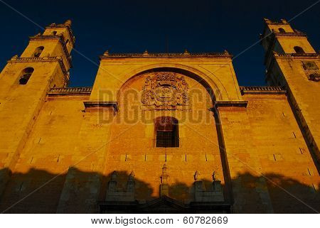 Santa Ana Cathedral, Sunset, Merida