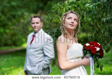 Bride And Groom On Wedding Walk