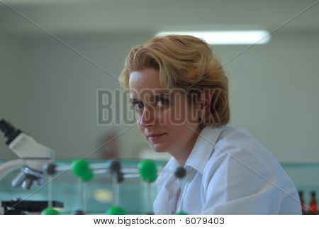 Portrait Of A Female Researcher