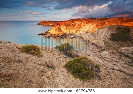 Coast of southern Crete, Greece.