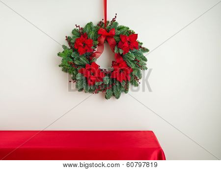 Advent Wreath Over Sideboard
