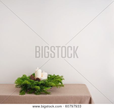 Advent Wreath On Side Board