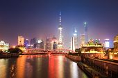 Beautiful Shanghai Scenery At Night