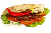 foto of gyro  - gyros pita isolated on a white background - JPG