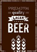 foto of malt  - Vector design of beer label with ears of barley - JPG