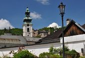 stock photo of banska  - Old Castle in Banska Stiavnica Slovakia Unesco - JPG