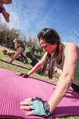 image of boot camp  - Boot camp fitness instructor timing class push - JPG