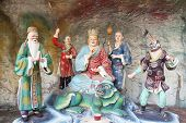 Di Zang Wang Buddha With Attendants Diorama