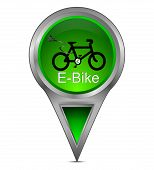 map pointer with E-Bike