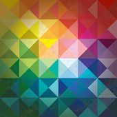 picture of hexagon pattern  - Bright Colored Mosaic Abstract Background  - JPG