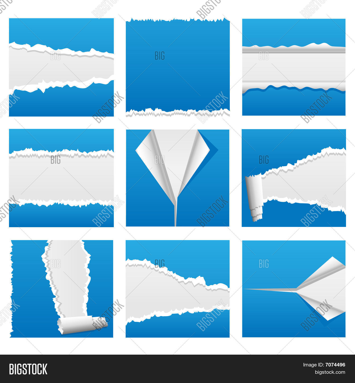 Charming ripped paper vector photos
