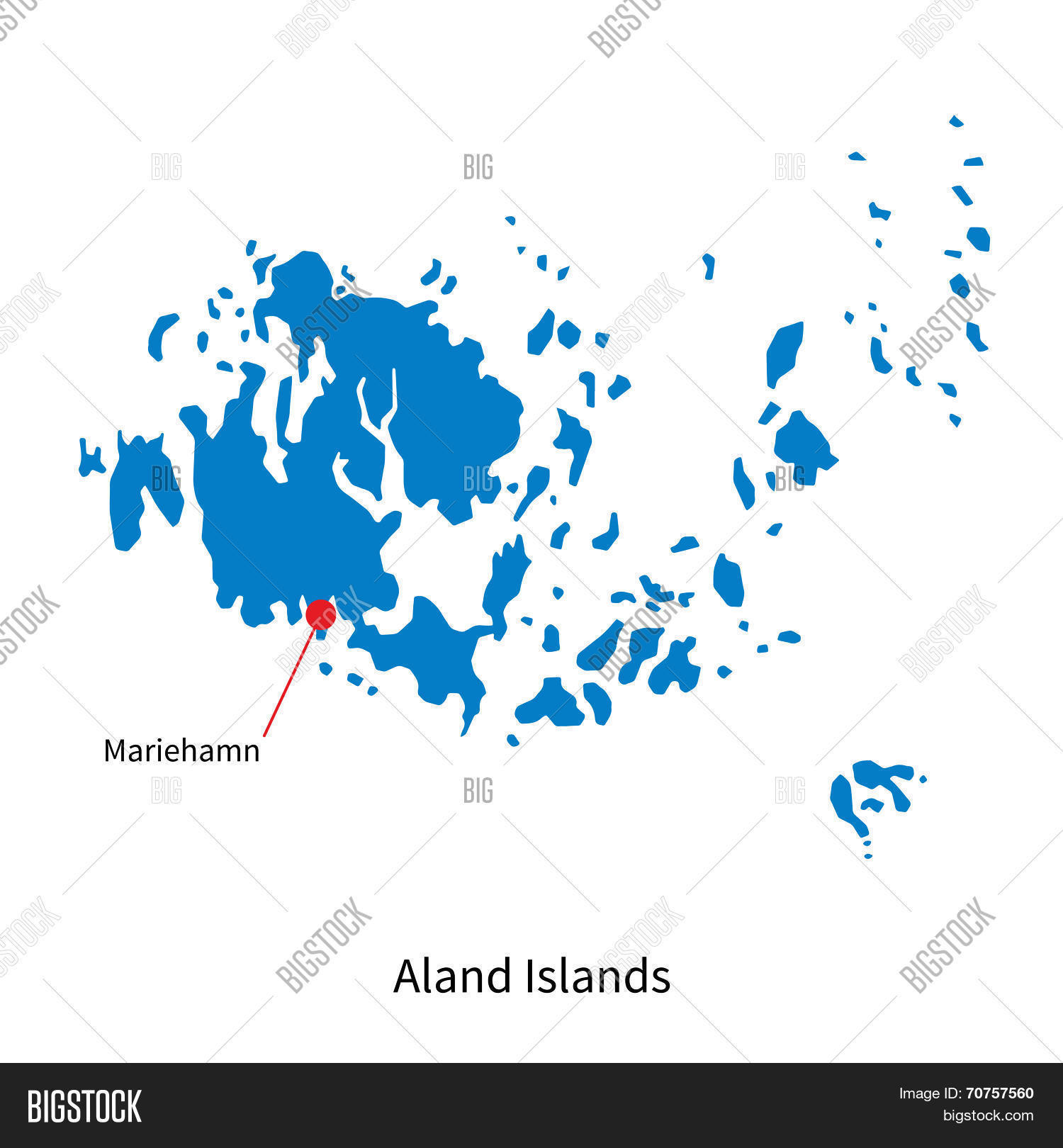 Detailed Vector Map Aland Islands Vector Photo Bigstock - Aland islands political map