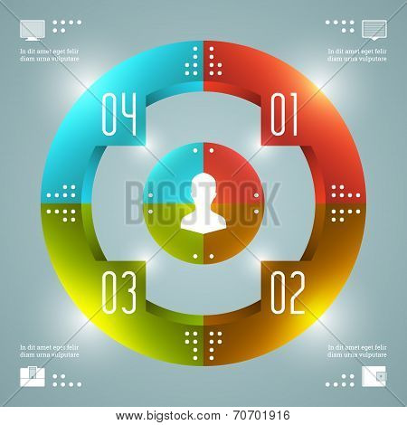 Stylish Infographics Vector Template. Circles Diagram. Vector EPS10 Concept Illustration Design