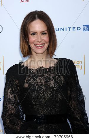 LOS ANGELES - AUG 23:  Sarah Paulson at the Television Academy's Perfomers Nominee Reception at Pacific Design Center on August 23, 2014 in West Hollywood, CA