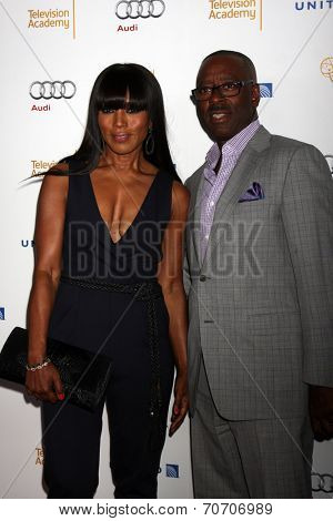 LOS ANGELES - AUG 23:  Angela Bassett, Courtney B. Vance at the Television Academy's Perfomers Nominee Reception at Pacific Design Center on August 23, 2014 in West Hollywood, CA