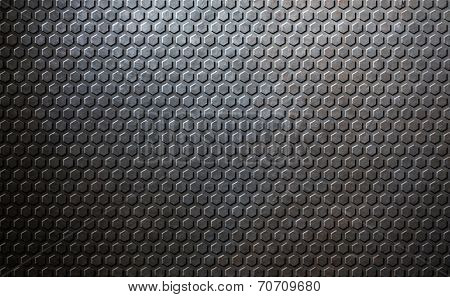 Old metal honeycomb background
