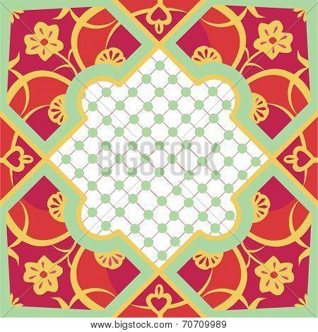 Marrakesh Orange & Pink Tile