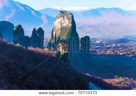 Astonishing view on Holy Monastery of Rousanou
