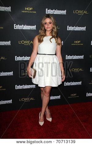 LOS ANGELES - AUG 23:  Sasha Pieterse at the 2014 Entertainment Weekly Pre-Emmy Party at Fig & Olive on August 23, 2014 in West Hollywood, CA