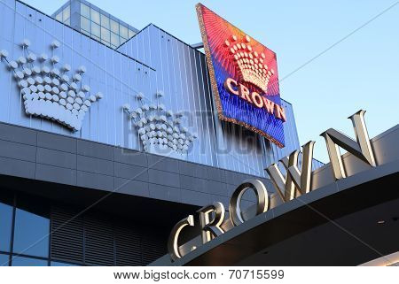 Famous Crown casino hotel Melbourne