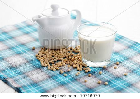 glass of soya milk - food and drink
