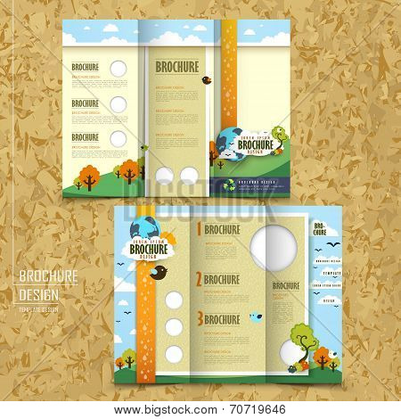 Tri-fold Template Brochure For Environmental Concept