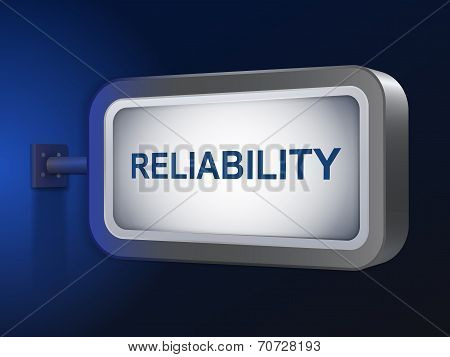 Reliability Word On Billboard