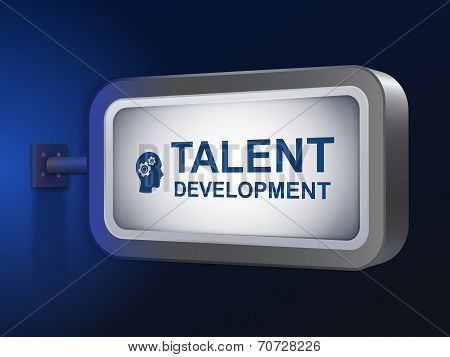 Talent Development Words On Billboard