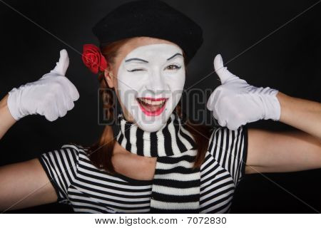 Happy Mime Portrait