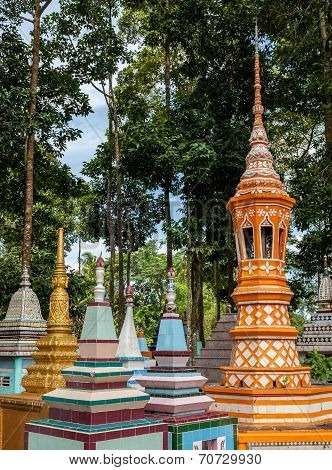 Colorful Khmer Temples