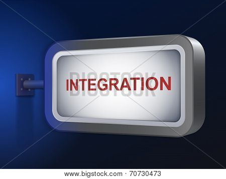 Integration Word On Billboard