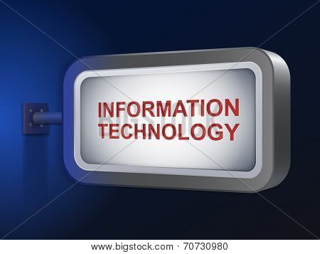 Information Technology Words On Billboard