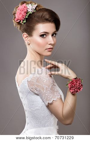 Girl in the image of the bride