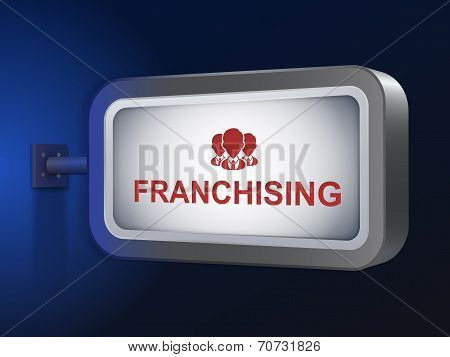 Franchising Word On Billboard