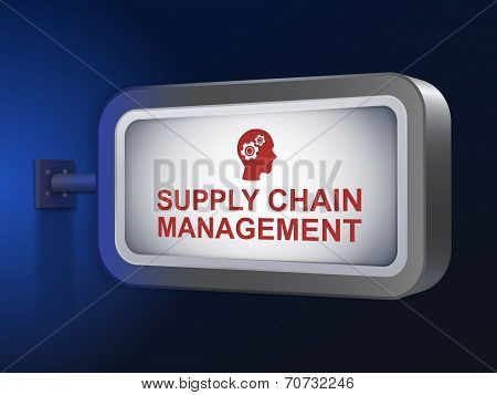 Supply Chain Management Words On Billboard