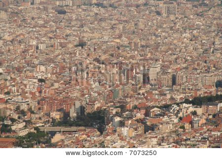Barcelona City Overview Roofs