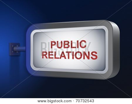 Public Relations Words On Billboard
