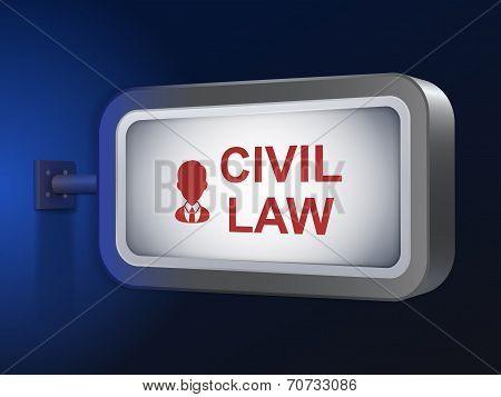 Civil Law Words On Billboard