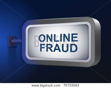 Online Fraud Words On Billboard