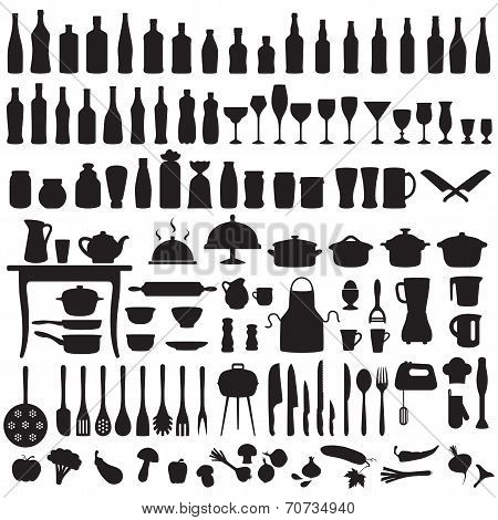 kitchen tools, cooking icons