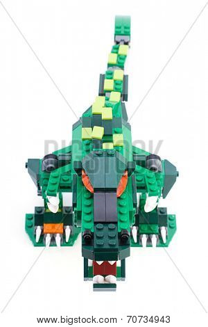 Ankara, Turkey - April 04, 2012: Studio shot of Lego Creator isolated on white background