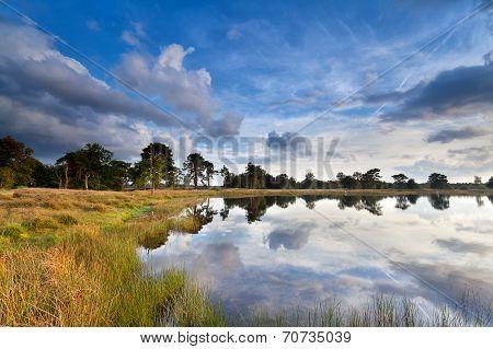 Beautiful Sky Reflected In Lake