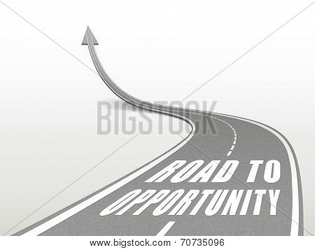 Road To Opportunity Words On Highway Road