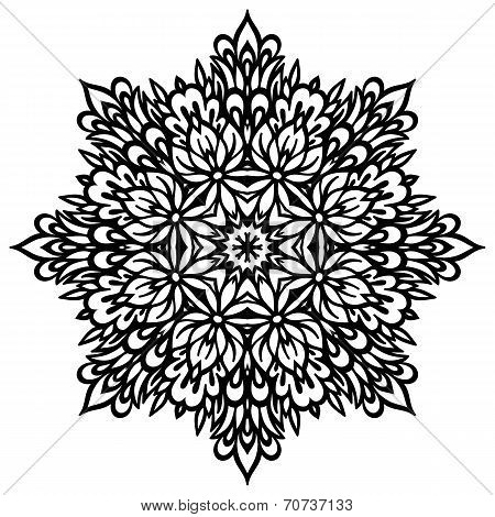 Abstract Flower Mandala. Decorative element for design.