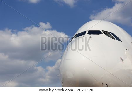 Nose Of Airplane frontal side view