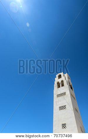 White Church In Santorini